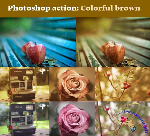 Colorful Brown Photoshop Actions