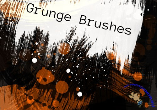 Premium Grunge Photoshop Brushes Pack