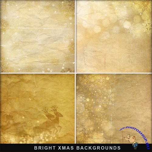 Textures - Bright Gold Christmas Backgrounds