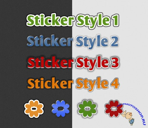 Sticker Photoshop Styles