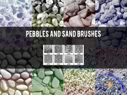 Pebbles and Sand Photoshop Brushes