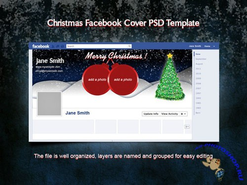 Christmas Facebook Cover PSD Template