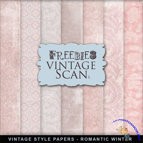 Textures - Vintage Style Papers - Romantic Winter