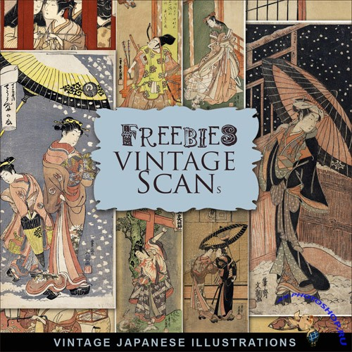 Scrap-kit - Vintage Japanse Illustrations