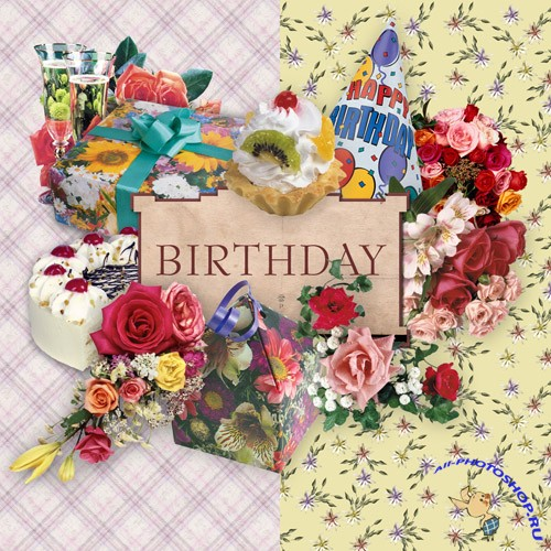 Scrap-set - Birthday