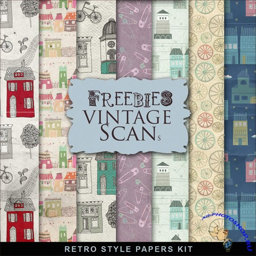 Textures - Retro Style Papers 2