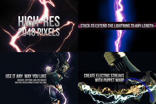 18 Electrifying Lightning Strikes Photoshop Brushes
