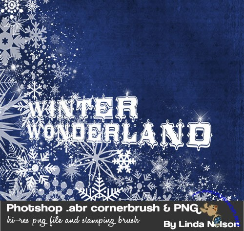 Winter Wonderland Corner Photoshop Brushes