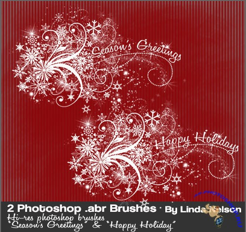 Happy Holidays Photoshop Brushes