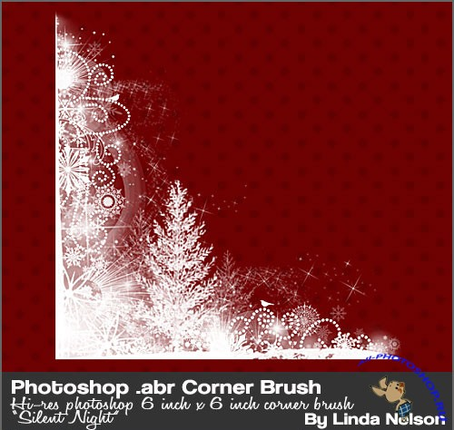 Snow Corner Photoshop Brushes #1