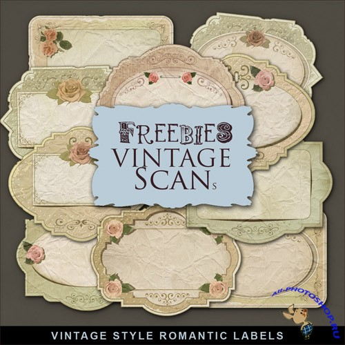 Scrap-kit - Vintage Style Romantic Labels