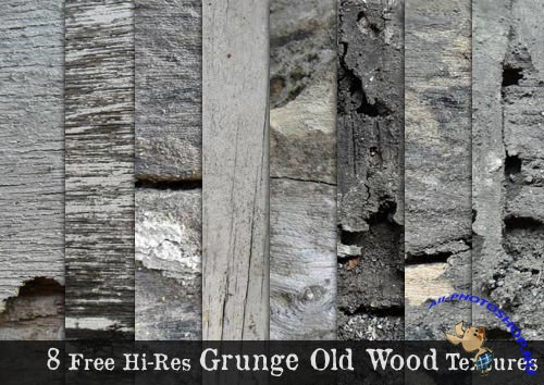 8 Hi-Res Grunge Old Wood Textures