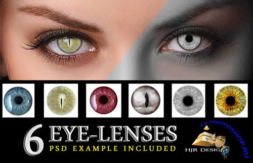 6 Eye Lenses PSD Template
