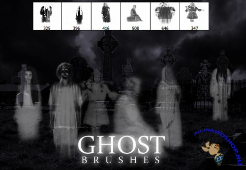 Ghost Photoshop Brushes