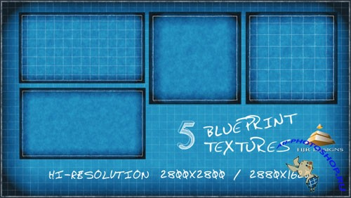5 Hi-Res Blueprint Textures