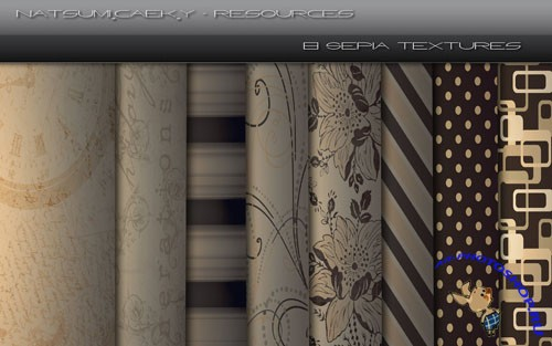 8 Sepia Textures Pack