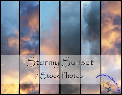 Stormy Sunset Textures