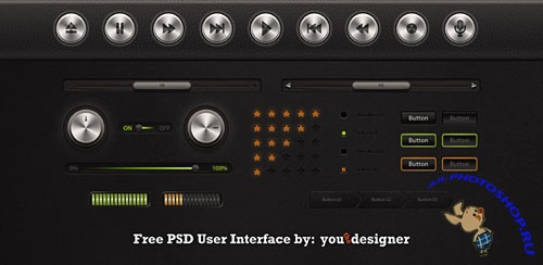 User Interface PSD Template