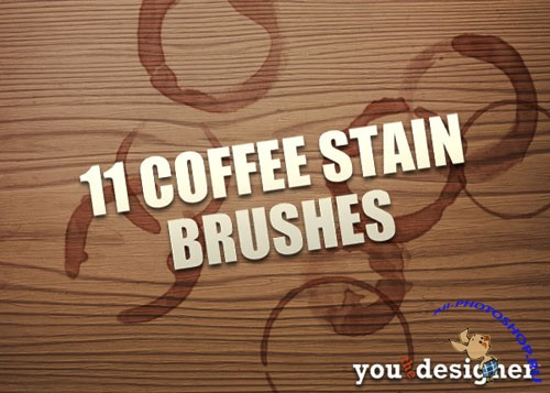 11 Coffee Stains Photoshop Brushes