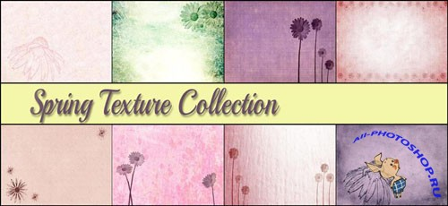Spring Texture Collection + Photoshop Brushes
