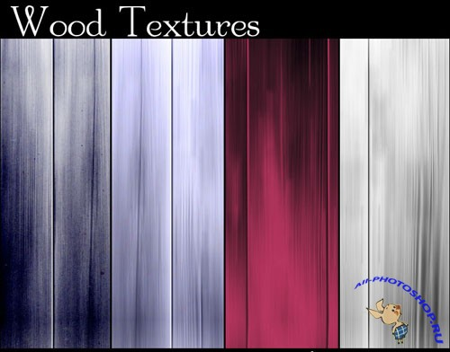 4 Colored Wood Textures #1