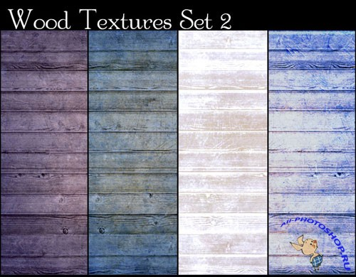 4 Colored Wood Textures #2