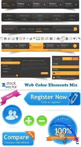 Web Color Elements Mix - Vectors