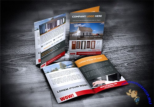 A4 to A5 Brochure/Flyer Mockup PSD Template #2