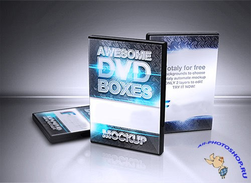 CD/DVD/BluRay Boxes Mockup PSD Template