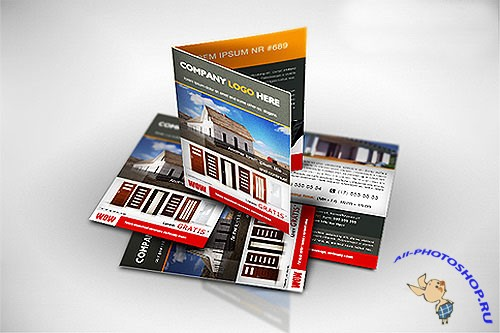A4 to A5 Brochure/Flyer Mockup PSD Template #1