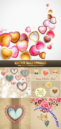Vintage backgrounds #38 - Stock Vector