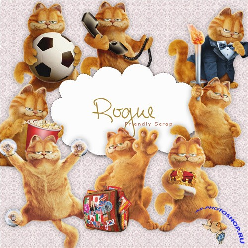 Scrap-kit - Garfield Cat 2