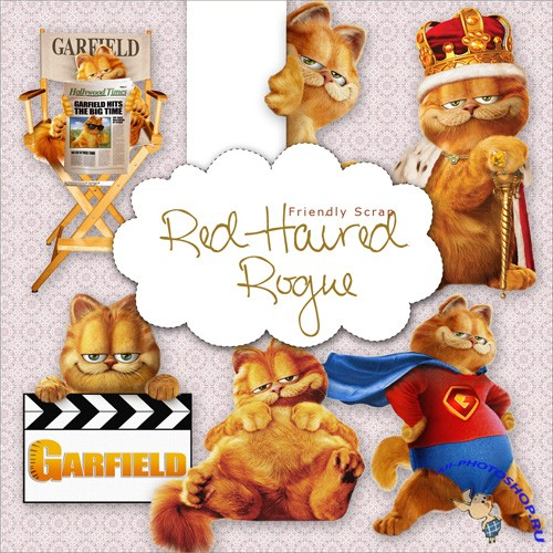 Scrap-kit - Garfield Cat 1