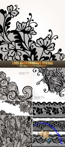 Lace Backgrounds Vector