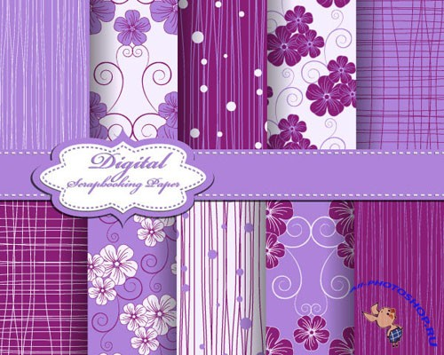 Purple Fabric lines Vector Patterns