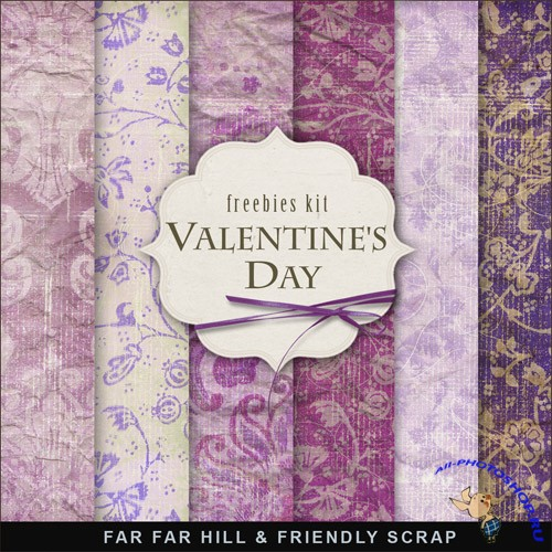 Textures - Vintage Style Papers For Valentines Day