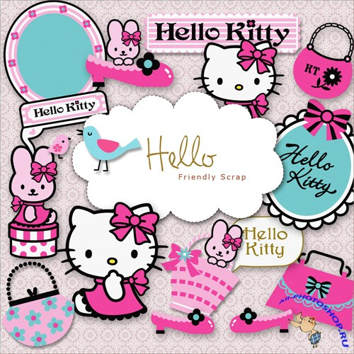 Scrap-kit - Hello Kitty - Painted PNG Images
