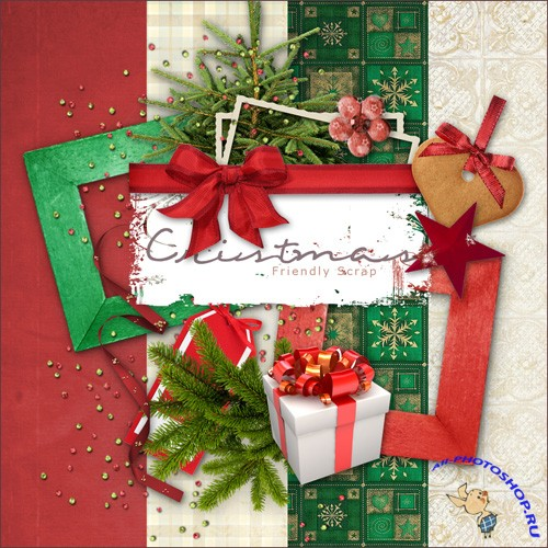 Scrap-set - Christmas MIX Atributes And Papers