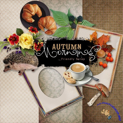 Scrap-set - Autumn Morning