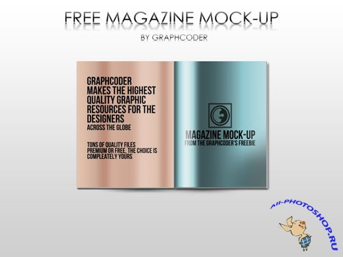 Magazine Mock-up PSD Template