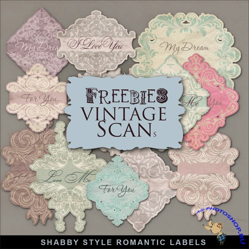 Scrap-kit - Shabby Style Romantic Labels
