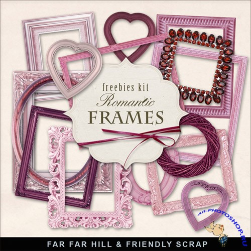 Scrap-kit Romantic Cluster Frames For Valentines Day 2013