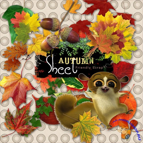 Scrap-kit - Autumn Sheet