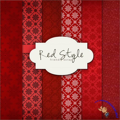 Textures - Winter Red Style Backgrounds