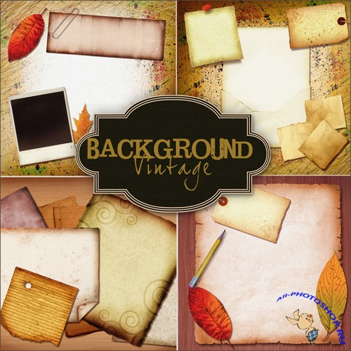 Backgrounds - Old Vintage Style Papers
