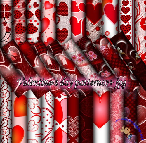 Valentine Day Photoshop Patterns #1