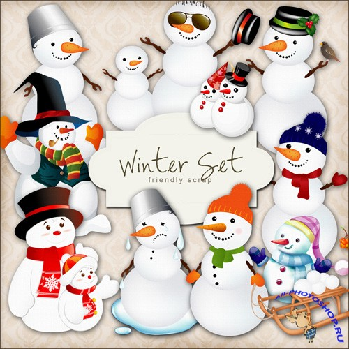 Scrap-kit - Winter Set - Snowman PNG Images