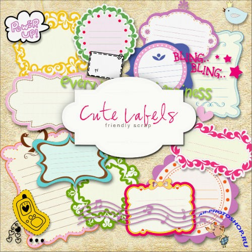Scrap-kit - Cute Labels