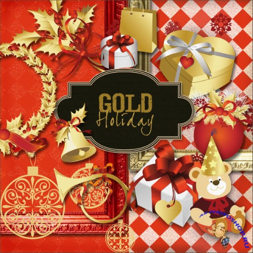Scrap-set - Gold Holiday