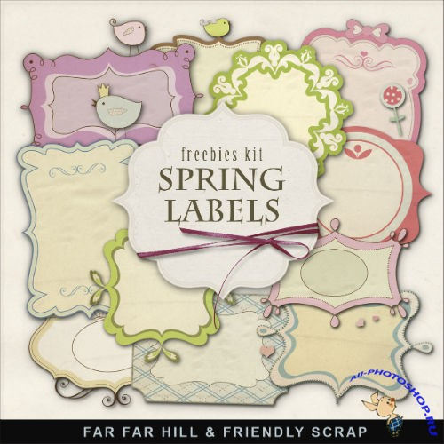 Scrap-kit - Spring Labels
